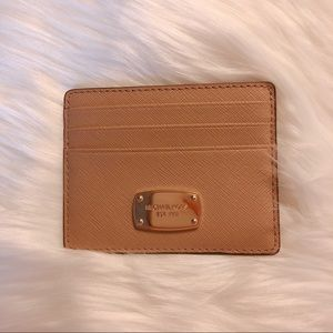 Michael Kors Saffiano Leather Card Holder EUC